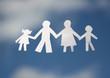 paper family on sky