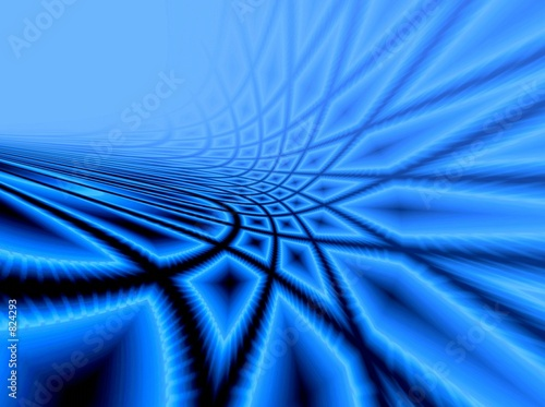 poster of blue background with rays