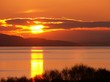sunrise reflection over lake
