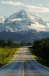 canvas print picture road to mountains