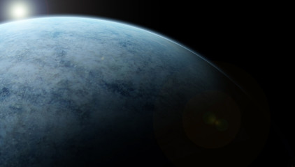 planet in space.