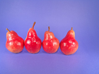 four organic pears