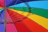 beach umbrella abstract poster