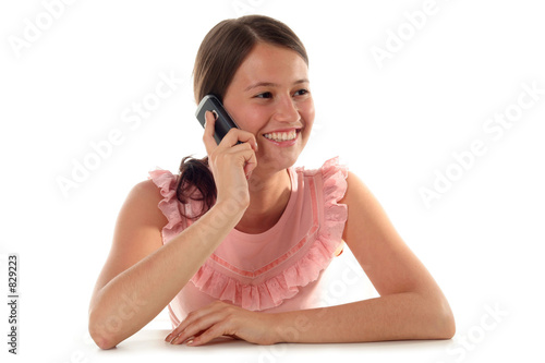 girl using a mobile phone t-shirt