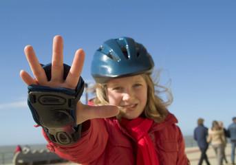 stop ! skating girl