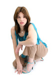 beautiful young hispanic woman poster
