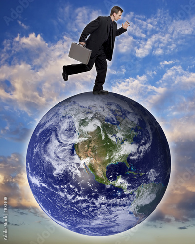 poster of global business traveler