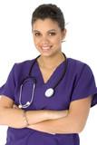 beautiful hispanic nurse poster