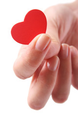 mano con corazon