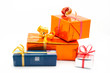 four gift boxes. white background