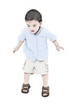 illustration toddler boy jumping poster