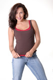 sexy woman wearing jeans poster