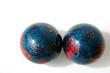boules chinoises bleues et rouges