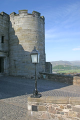 stirling castle in scotland with wallace monument