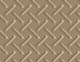 seamless diamond plate background in large tan poster
