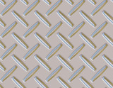 seamless diamond plate background in silver poster