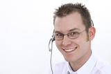 customer service representative with smile poster
