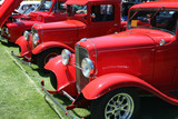 classic red trucks poster