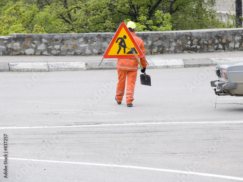 the road worker