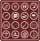 medical and scientific icons poster