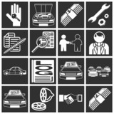 car purchase icons poster