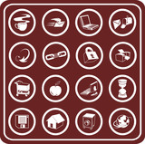 web and computing icons poster