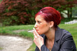 rauchendes modell