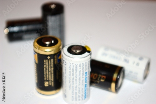 batteries on white