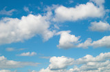 blue sky with white clouds at midday - image 2 poster