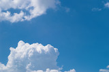 blue sky with white clouds at midday - image 6 poster