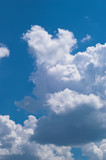 blue sky with white clouds at midday - image 9 poster