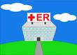 colorful vector illustration of hospital er