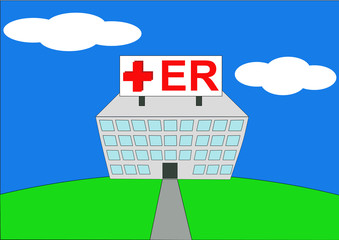 colorful vector illustration of hospital er