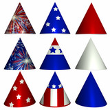 patriotic party hats poster
