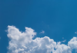 blue sky with white clouds at midday - image 11 poster