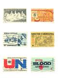 stamps: us vintage stamps 6 cent poster