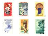stamps: us vintage stamps poster