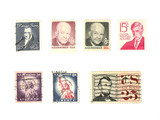 stamps: us vintage stamps - people poster
