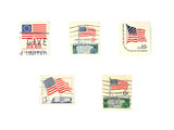 stamps: us stamps - flags poster