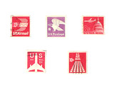 stamps: us stamps - air mail poster