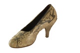 snake leather female footware poster