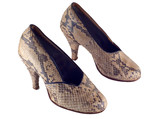 snake leather shoes poster
