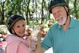 senior couple refreshment poster