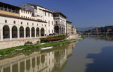 arno river in florence poster