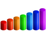 rainbow bars graph poster