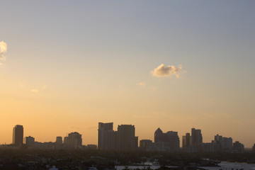 early evening skyline view of fort lauderdale