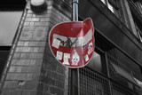 red no entry sign poster
