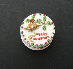 miniture christmas cake