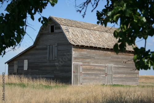 framed barn