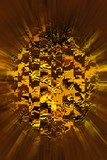 orange fractal sphere poster